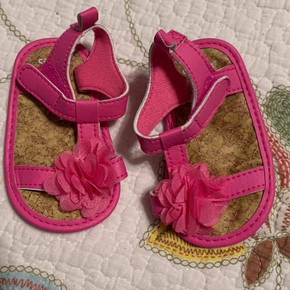Carter's Other - Carter's hot pink sandals for baby girl
